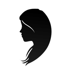 Woman head profile silhouette vector