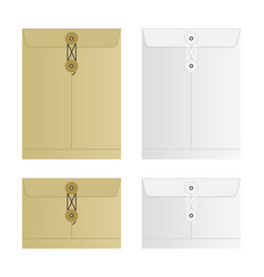 Tied sealed letter envelopes set isolated on white vector