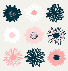 Floral elements collection vector
