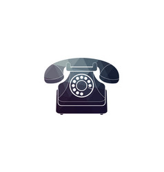 Icon of a retro phone vector