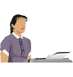 Vintage office woman manager and old fashion vector