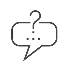 Question mark in speech bubble vector