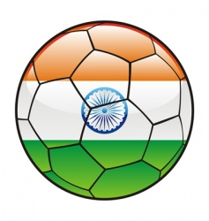 india flag on soccer ball vector image