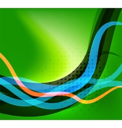 Colorful bright lines background design vector