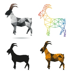 Set goats abstract isolated vector
