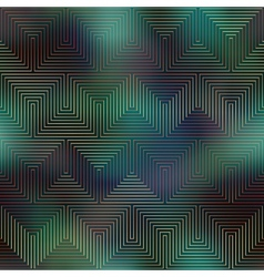 Computer grid matrix pattern on dark green blurred vector