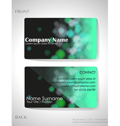 A gradient colored business card vector