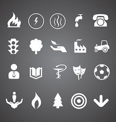 Various icons set vector