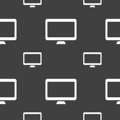 Computer widescreen monitor icon sign seamless vector