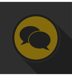 Dark gray and yellow icon - speech bubbles vector