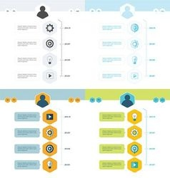 Set of timeline design set vector