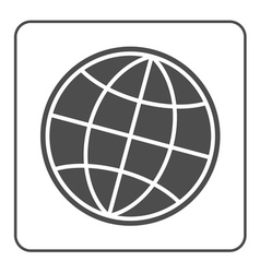 Earth globe icon global world sign vector