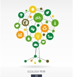 Abstract ecology background growth tree concept vector
