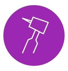 Dental drill line icon vector