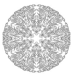 Antique ottoman turkish design twelve vector