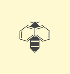 Bee honey logo design insect logotype vector