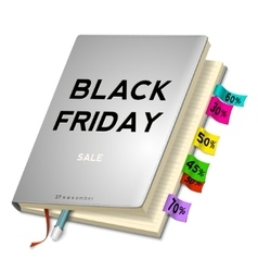 Black friday sale background with planning vector
