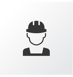 Builder icon symbol premium quality isolated vector