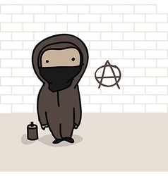 cartoon anarchist vector image