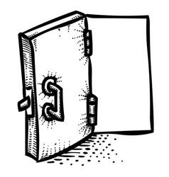 cartoon image of door icon open door symbol vector image