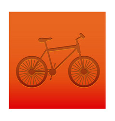 color background with carved bike vector image
