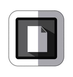 contour white paper icon vector image vector image