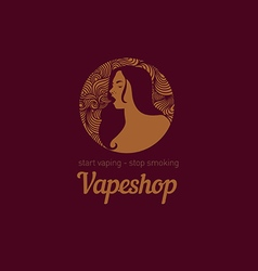 Creative logo for the shop or bar vape vector image vector image