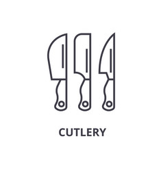 cutlery line icon outline sign linear symbol vector image