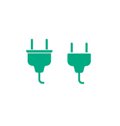 electric plug cable connector icon vector image vector image