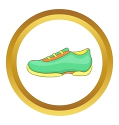 Green sneakers icon vector