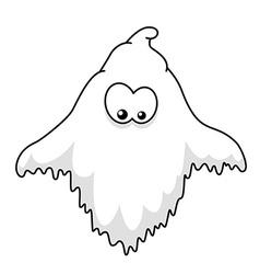 Halloween ghost cartoon vector