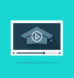 Online video education concept of remote vector