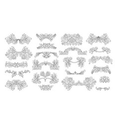 Ornate set vintage elements vector