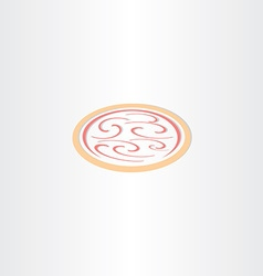 Pizza icon logo vector