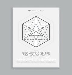 Sacred geometrical symbol vector