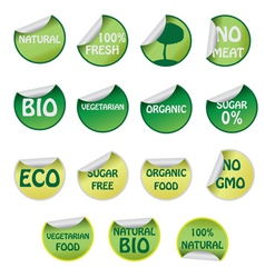 Set of ecology labels vector image vector image