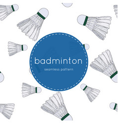 shuttlecocks - badminton concept hand drawn vector image
