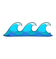 Small waves icon cartoon style vector