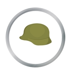 Soldier helmet military icon cartoon single vector