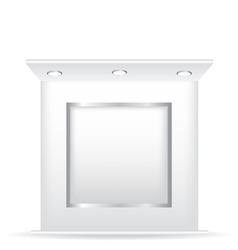 Trade stand and frame vector