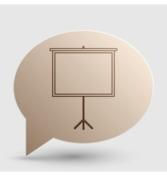 Blank projection screen brown gradient icon on vector