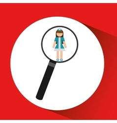 Human resources searching nurse graphic vector