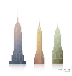 Skyscrapers of new york city vector