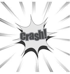 Comic monochrome crash wording background vector