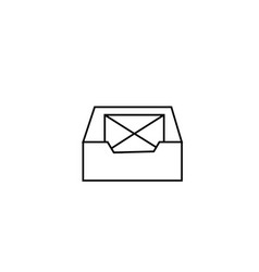 Inbox email icon vector