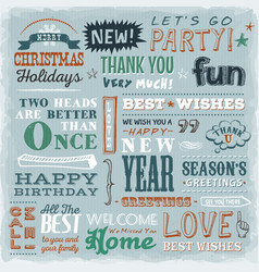 Quotes wishes and greetings messages vector