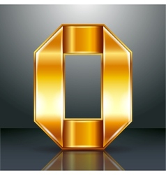 Letter metal gold ribbon - O vector image