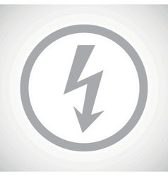Grey voltage sign icon vector