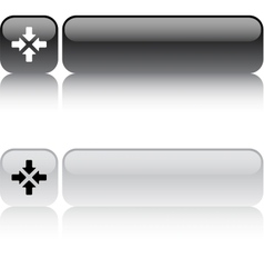 Click here square button vector