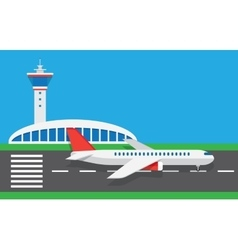 flat airport vector image